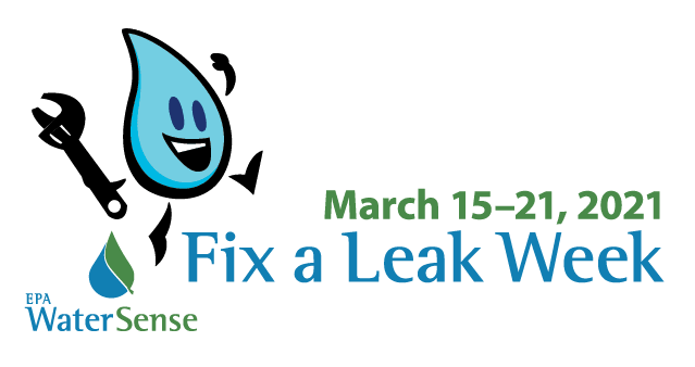 Fix a Leak Week With Water Drop Cartoon